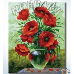 Маковый Раскраска по номерам акриловыми красками на холсте Hobbart