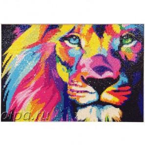 Радужный лев Алмазная вышивка (мозаика) Гранни