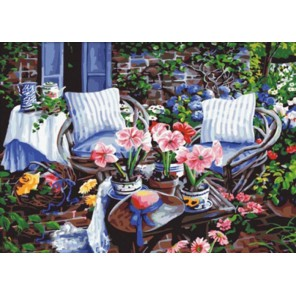 В саду Алмазная вышивка (мозаика) Color Kit