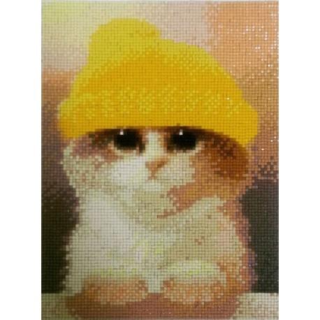 Милый котик Алмазная вышивка (мозаика) Гранни
