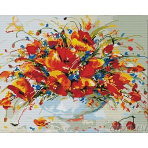 Весенние маки Алмазная вышивка (мозаика) Color Kit