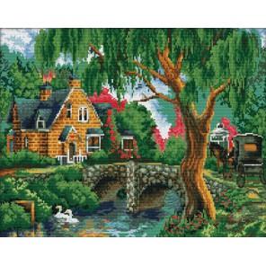 Летний пейзаж Алмазная вышивка (мозаика) Color Kit