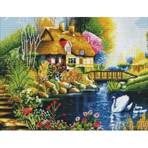 Дом у пруда Алмазная вышивка (мозаика) Color Kit