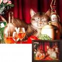 Счастливый кот Алмазная вышивка (мозаика) Гранни