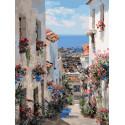 Испания. Михас Раскраска картина по номерам на картоне Белоснежка 3251-CS