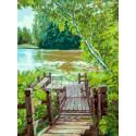 Лесенка Раскраска картина по номерам на картоне Белоснежка 3280-CS