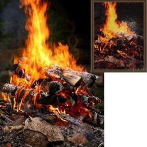 Фото из каталога и собранная работа Огонь Алмазная вышивка (мозаика) Гранни