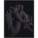 Девушка в полосатой тени 80х100 Раскраска картина по номерам на холсте