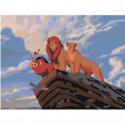 Король Лев на скале 75х100 Раскраска картина по номерам на холсте