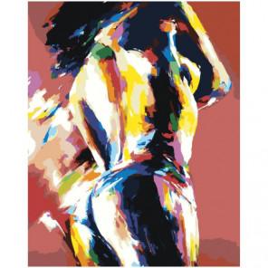 Радужная фигура девушки 80х100 Раскраска картина по номерам на холсте