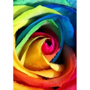 Радужная роза Алмазная вышивка (мозаика) Гранни
