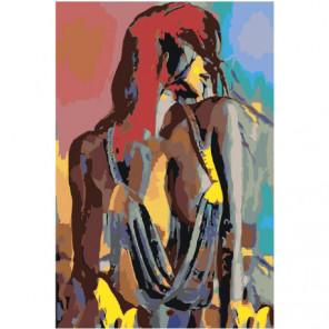 Радужная обнаженная девушка 100х150 Раскраска картина по номерам на холсте