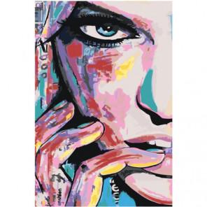 Загадочное лицо девушки 80х120 Раскраска картина по номерам на холсте