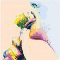 Чупа-чупс 100х100 Раскраска картина по номерам на холсте