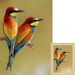 Яркие птички Алмазная вышивка (мозаика) Гранни