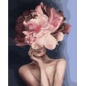 Девушка-цветок. Загадочная нежность Раскраска картина по номерам на холсте GX34806