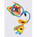 Девушка. Яркий взгляд Раскраска картина по номерам на холсте с неоновыми красками AAAA-RS012-60x80