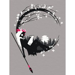 Пример в интерьере Принцесса. Аниме Раскраска картина по номерам на холсте с неоновыми красками AAAA-RS045