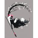 Принцесса. Аниме Раскраска картина по номерам на холсте с неоновыми красками AAAA-RS045