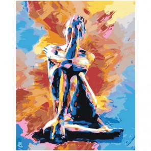 Красочная девушка Раскраска картина по номерам на холсте