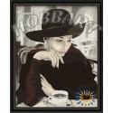 За чашкой кофе Раскраска по номерам акриловыми красками на холсте Hobbart