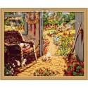 Садовое настроение Раскраска по номерам акриловыми красками на холсте Hobbart
