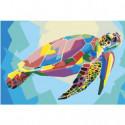 Радужная черепаха 100х150 Раскраска картина по номерам на холсте
