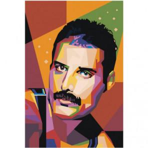 Радужный Фредди Меркьюри 40х60 100х150 Раскраска картина по номерам на холсте