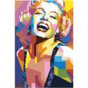 Радужная Мерилин Монро 80х120 Раскраска картина по номерам на холсте