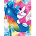 Котёнок и туфля Раскраска картина по номерам на холсте PKC59112