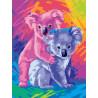 Коалы Раскраска картина по номерам на холсте PKC59109