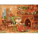 Домашняя идиллия Раскраска картина по номерам на холсте PKC76047