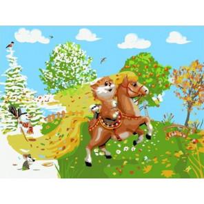 На коне Раскраска картина по номерам на холсте PKC76045