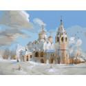 Суздаль. Покровский собор Раскраска картина по номерам на холсте PKC76043