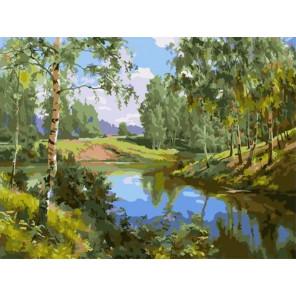 Лето Раскраска картина по номерам на холсте PKC76042