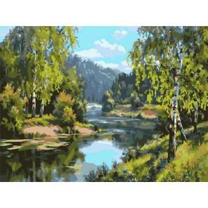 У реки Раскраска картина по номерам на холсте PKC76039
