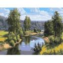 Проточная река Раскраска картина по номерам на холсте PKC76037