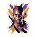Баскетболист Коби Брайант Раскраска картина по номерам на холсте