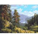 Воспоминание о Сибири Раскраска картина по номерам на холсте PKC76031