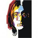 Радужный Джон Леннон 80х120 Раскраска картина по номерам на холсте