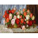 Розы Раскраска картина по номерам на холсте PKC76023