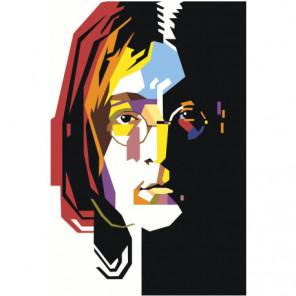 Радужный Джон Леннон 100х150 Раскраска картина по номерам на холсте