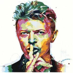 Радужный Дэвид Боуи 80х80 Раскраска картина по номерам на холсте