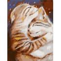 Мурчу тобою. Два кота Раскраска картина по номерам на холсте PKC76018