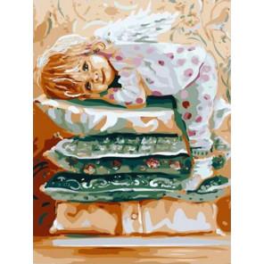 Мой милый ангел Раскраска картина по номерам на холсте PKC76016