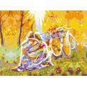 Время двоих: ноябрь. Под пледом Раскраска картина по номерам на холсте PKC76015