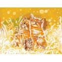 Счастье быть семьёй. Коты Раскраска картина по номерам на холсте PKC76010