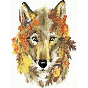 Осенний волк Раскраска картина по номерам на холсте PKC76004