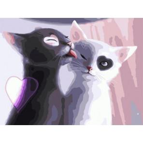 Инь и Янь. Котята Раскраска картина по номерам на холсте EX6515