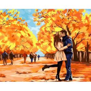 Осень, пора любви и поцелуев Раскраска картина по номерам на холсте GX34923